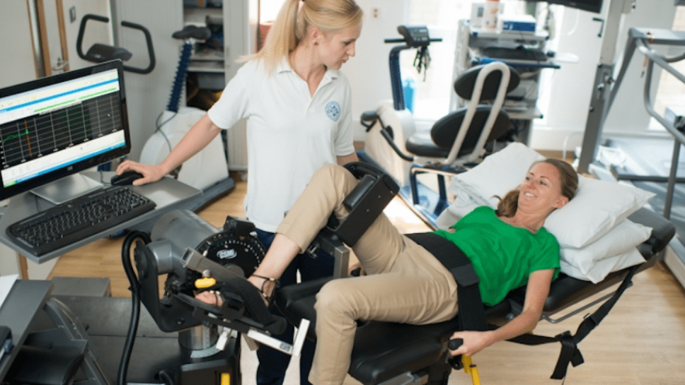 image of a female physiotherapist with a female patient