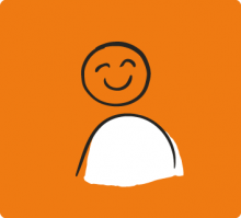 Illustration of person smiling