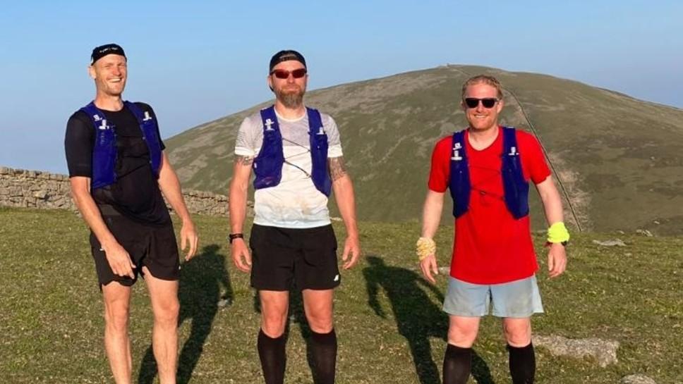 Three men from Bangor, Wales